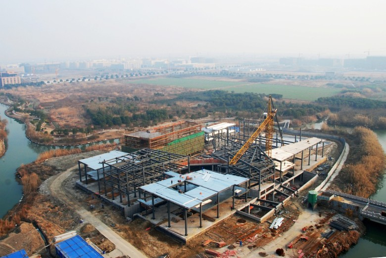 Jiaxing Island by MORE and AIM, tops out