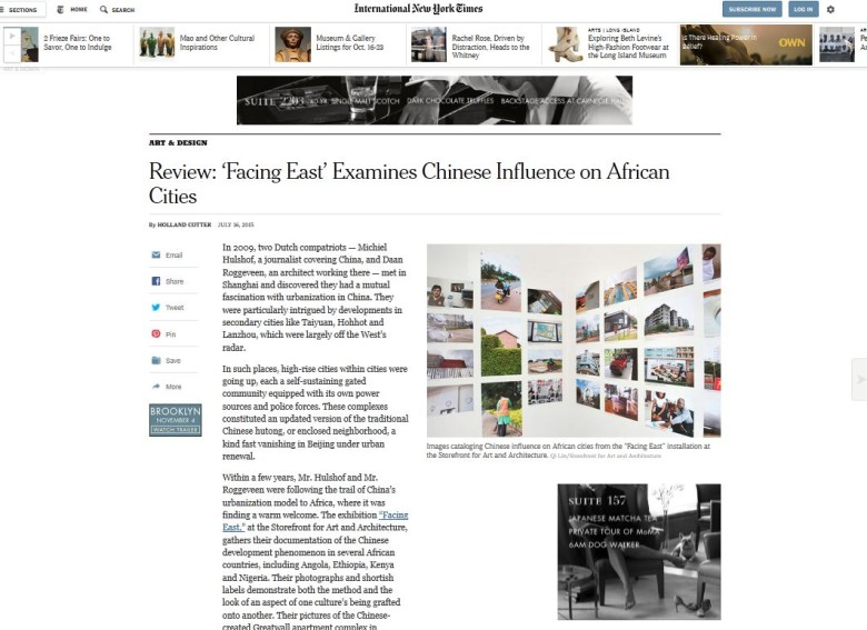 Facing East review in New York Times
